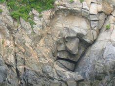 P s y c h i c P o w e r: Pareidolia. Stone face