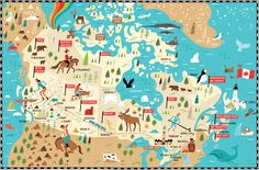 Canada illustrated map by Nate Padavick (www.idrawmaps.com)
