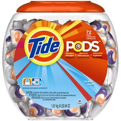 Tide Pods Ocean Mist Detergent, 72ct.  A must have for college students.  Saves you from lugging giant detergent bottles all over the place.  Makes Laundry Time Snappy. #charlottepediatricclinic