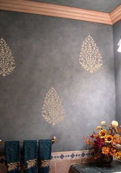 WALL STENCIL PAISLEY EXOTIC INDIA MOTIF 12 INCHES Easy Wall Decor Stenciling