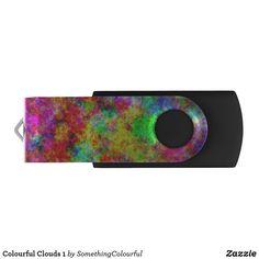 Colourful Clouds 1 Flash Drive Usb Drive, Usb Flash Drive, Dog Design, Custom Design, Colorful Clouds