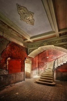 Red. Vintage. Abandoned. Ruins.
