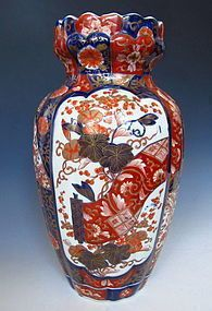 Japanese Meiji Period Imari Scroll Vase