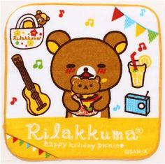 Rilakkuma bear picnic towel hamburger guitar lemonade #rilakkuma
