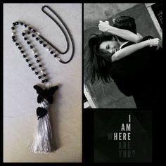 Handmade long necklace designed by Elli lyraraki