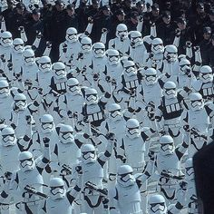 First Order Stormtroopers salute General Hux