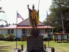 Hawaii 9-11-2011 :: King Kamehameha statue on the Big Island of Hawaii image by Ziffen63 - Photobucket