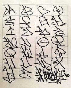 Graffiti Letters: 61 graffiti artists share their bomb science style - Graffiti Alphabet Styles, Graffiti Lettering Alphabet, Chicano Lettering, Tattoo Lettering Fonts, Graffiti Styles, Lettering Styles, Grafitti Alphabet, Street Art Graffiti, Graffiti Text