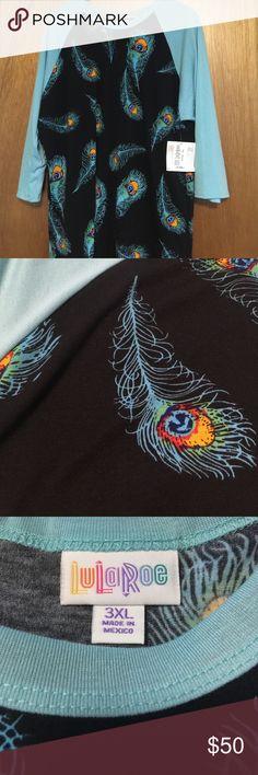 NWT Randy NWT Randy, size 3XL. Peacock feathers!!  LuLaRoe Tops