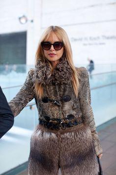 Street Style Fall 2013 - New York Fashion Week Street Style - Harper's BAZAAR: Rachel Zoe - adore the coat