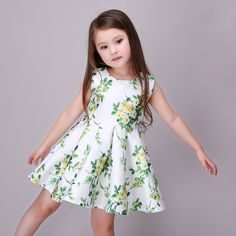 19.99$ Watch now - http://aliu9w.shopchina.info/go.php?t=32792668675 - Summer Dress For Teenage Baby Girls Green Flower Costume Princess Party Dress Infant Kids Clothes For Girls 3,5,6,8,9 Years Old #bestbuy