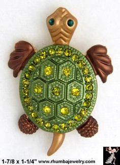 turtle bling | Turtle Pin: Turtle Brooch, Rhinestone Turtle Jewelry Pins