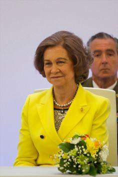 King Juan Carlos of Spain and Queen Sofia of Spain attend 'Don Quijote' Journalism Awards 2014 at Casa del lector, El Matadero on May 27, 2014 in Madrid