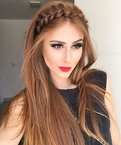 Gorgeous Braided Rope Headband Long Hairstyles 2017 – 2018 for Fine Hair