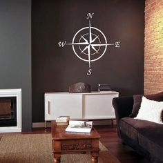 This cool compass wall decal will look perfect in a office, entryway or living room in your home. Great for the nautical décor, indoors our out, you can also place this on the front of any vehicle, boat, or even on a shed or building.