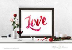 printable art LOVE watercolor printable text valentine printables love printable quotes DIY art prints typographic art prints home decor