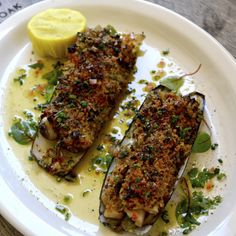 Razor Clams Casino. Pair With Nº 19 Chardonnay