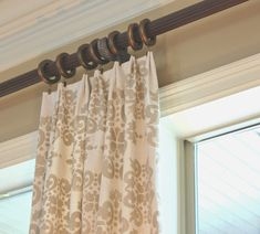 Easy No Sew Drop Cloth Curtains WITH PLEATS!