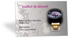 Carte De Visite Zen Idale Pour Un Spa Ou Institut Beaut
