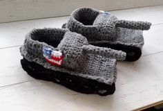 Crochet Tank Slippers American Flag Tank Slippers by paintcrochet