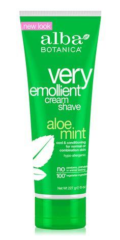very emollient™ cream shave aloe mint   Alba Botanica