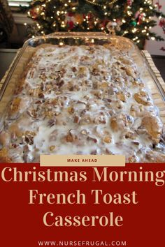 Make ahead Christmas morning French Toast Casserole! I make it for my family eve… – Breakfast Recipes Make ahead Christmas morning French Toast Casserole! I make it for my family eve… – Breakfast And Brunch, Christmas Morning Breakfast, Christmas Brunch, Christmas Cooking, Breakfast Dishes, Breakfast Bake, Christmas Meals, Christmas Dishes, Christmas Food Ideas For Dinner Meals
