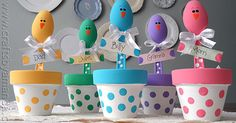 This sweet Easter chick craft is full of color and makes a great addition to your holiday table. Make these adorable chicks to grace your table this year.