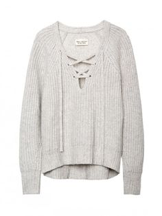 LACE-UP V-NECK SWEATER Of course its $800 +