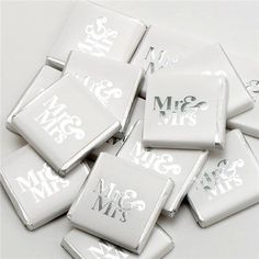 Silver Mr & Mrs Chocolate Neapolitans Pack), Wedding favours, wedding sweet table, wedding mr and mrs chocolates, silver wedding favours Silver Wedding Favors, Chocolate Wedding Favors, Wedding Sweets, Chocolate Pack, Chocolate Hearts, Delicious Chocolate, Sweet Table Wedding, Mr And Mrs Wedding, Mr Mrs