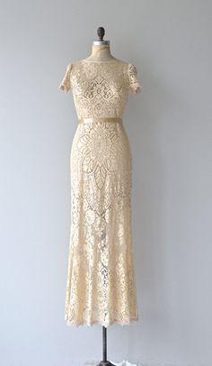 Colette wedding gown vintage lace wedding dress by DearGolden