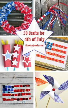 20 Crafts for the 4th of July - Independence Day DIYs | directorjewels.com