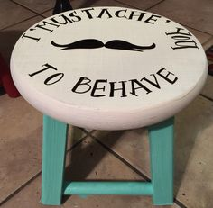 Timeout stool Time Out Chair, Circuit Projects, General Crafts, Craft Fairs, Silhouette Cameo, Craft Projects, Stool, Arts And Crafts, Chairs