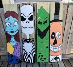 Porche Halloween, Casa Halloween, Halloween Blocks, Halloween Wood Crafts, Halloween Painting, Halloween Porch, Halloween Signs, Outdoor Halloween, Halloween Themes