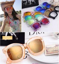 New Womens Vintage Retro Sunglasses Reflective Design Fashion Sunglasses #NOBrand #Round