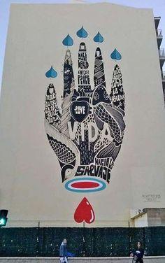 Very cool piece of street art by Boa Mistura #boamistura #streetart #art #urbanart #graffiti #art