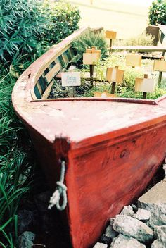 A Canoe Herb Garden. The Outer Banks from Elaine Palladino  Read more - http://www.stylemepretty.com/living/2013/06/20/the-outer-banks-from-elaine-palladino/