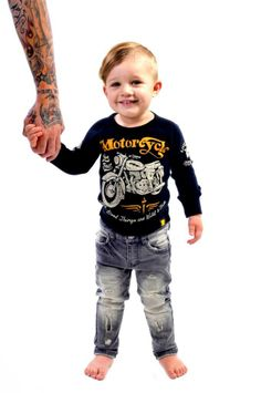 Wild and Free tee and Strummer jeans | Rock Your Kid winter 2014 | www.rockyourbaby.com