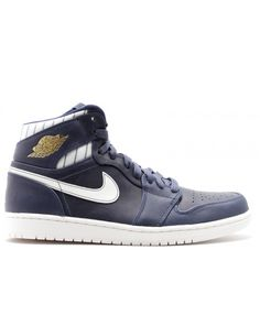 589bf1b188f7eb Air Jordan 1 Retro High Jeter Jeter Midnight Navy Metallic Gold Sl 715854  402