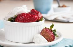 Cacao-Dusted Strawberries with Coconut Whipped Cream from our newsletter. Go ahead and indulge for Valentine's Day!