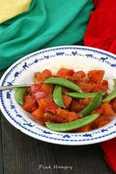 caribbean curry with pumpkin and bell pepper
