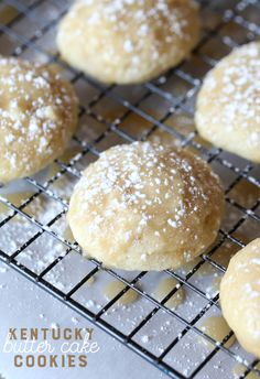 Another pinned wrote, These Kentucky Butter Cake Cookies are a fun spin on my SUPER popular recipe for Kentucky Butter Cake. They're soft, buttery, glazed and just like little bites of delicious cake! Cookies Cupcake, Cookie Desserts, Yummy Cookies, Just Desserts, Cookie Recipes, Dessert Recipes, Quick Cookies, Cookies Soft, Cupcakes