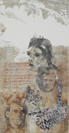 vater und kind bei rilke collage mit radierung juttamaRie