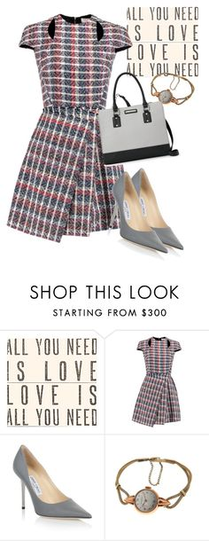 """""""dress"""" by masayuki4499 ❤ liked on Polyvore featuring Sugarboo Designs, Victoria Beckham, Jimmy Choo and Nine West"""
