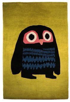 fair-trade owl rug by Chris Haughton
