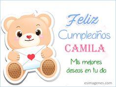 Feliz Cumpleaños Camila - Imágenes Tarjetas Postales con Nombres   Feliz Cumpleaños
