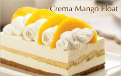 "Crema Mango Float   Ingredients:  1 pack Alaska Crema ½ cup Alaska Condensed milk 10	pcs	graham crackers, crushed 2 small ripe mangoes, sliced into wedges ¼ cup melted butter for graham crackers 10 pcs broas of lady finger cookies  Procedure:  Combine Alaska Crema and Alaska Condensed milk. Mix well. Cover bottom of a 9 ½"" X 6″ pan with graham crackers.  Spread with 1/3 of cream –milk mixture then cover with layers of broas. Spread with the remaining cream mixture."