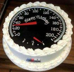 Car racing cake