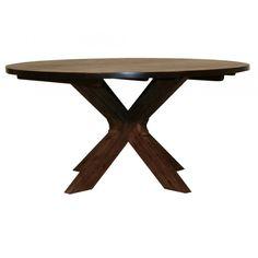 Lava matbord runt brunbetsad acacia Jag gillar enkelheten. Vill ha ett runt matbord