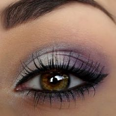 Light purple shades with a cat eye is the perfect pair for a great night out look.