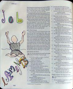 Job 3 Job Bible, Faith Bible, Bible Art, Job 3, Illustrated Faith, Bible Journal, Christian Life, Art Journaling, Walks
